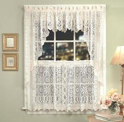 Lorraine Home Fashions Hopewell Lace Window Valance, 58-Inch