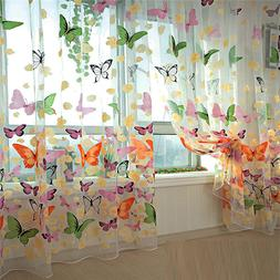 Hot selling 200cm x 100 cm Butterfly Print Sheer <font><b>Wi