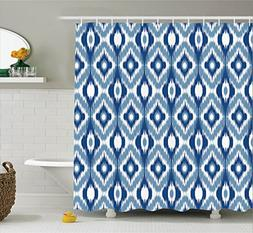 Ambesonne Ikat Shower Curtain, Ethnic Ikat Design with Regul