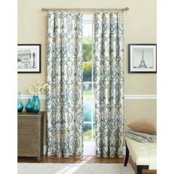 Better Homes and Gardens Ikat Scroll Curtain Panel, 52 x 63