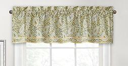 Imported Paisley Verveine 52 Inch By 16 Inch Window Valance