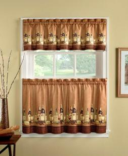 CHF & You Wines Tier Curtain Panel Set