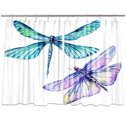 Insect Dragonfly Watercolor Style Kitchen Curtains Window Dr