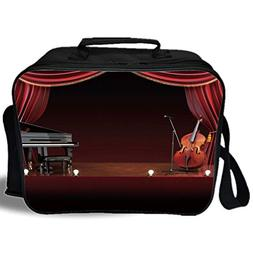 Insulated Lunch Bag,Musical Theatre Home Decor,Orchestra Sym