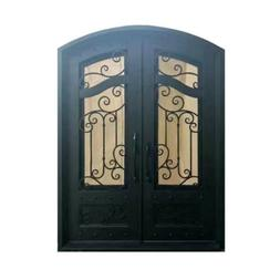 ALEKO Iron Arched Top Dual Door with Frame 96 x 72 Inches Ma