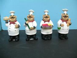 Italian FAT Chef figurine 4 pcs set  BISTRO DECOR home NEW B