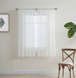 ivory inch window curtain