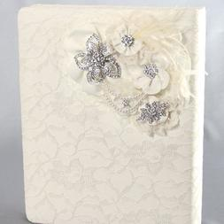 Ivy Lane Genevieve Ivory or White Lace Memory Book Home Gard