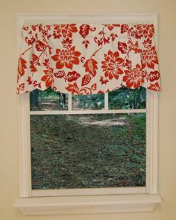 Curtain Chic Jacobean Abstract Beacon Valance, Mineral Red