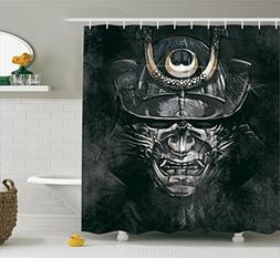 Ambesonne Japanese Decor Collection, Fearful War Mask Facial