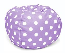Heritage Kids JK656191 Kids Polka Dot Round Bean Bag Chair,
