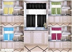 K4 SET KITCHEN,BATH CURTAIN VALANCE AND TIERS WINDOW TREATME
