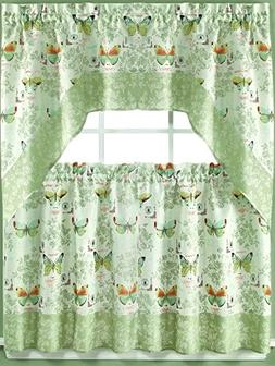 Kate Homes Collection - Butterfly Bliss Kitchen Curtain - 36