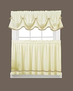 "Kate Curtain Set - Valance: 58"" x 13"" + Tier Pair: 57"" x 24"""
