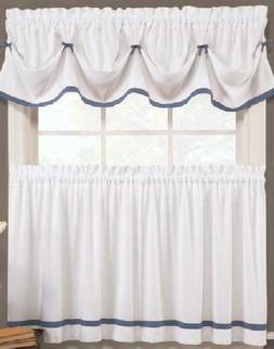 naturally home Kate Elegance Kitchen Curtain Set - Valance