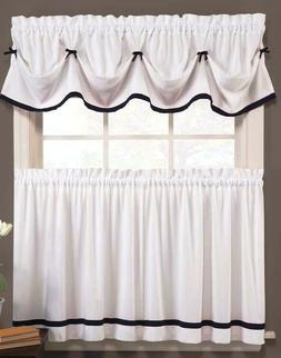 Kate Kitchen Curtain Collection - Black & White - BRAND NEW