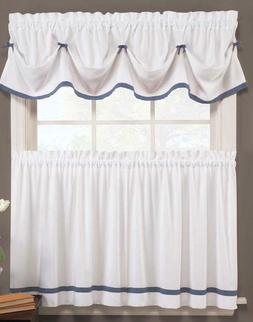 Kate Kitchen Curtain Collection - Blue & White - BRAND NEW