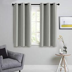 CUTEWIND Kids Bedroom Blackout Curtains Gray 54 Inch Length