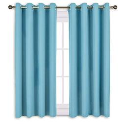 NICETOWN Blackout Curtains 63 Long - Window Treatment Therma