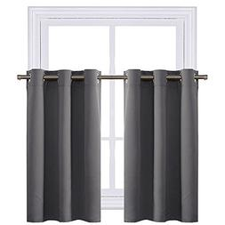 NICETOWN Kitchen Blackout Window Treatment Valances - Therma