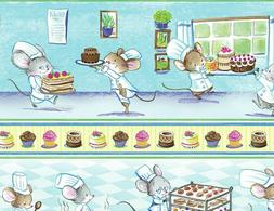 Timeless Treasures ~ Kitchen Chef Mice Bakery #2 ~ 100% Cott