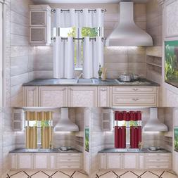 KITCHEN COMPLETE SET CURTAIN WINDOW DRESSING WITH BRONZE GRO