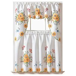 GOHD - 3pcs Kitchen Curtain/Cafe Curtain/Swag & Tiers Set, A