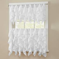 Sweet Home Collection 3 Pc Kitchen Curtain Set - Valance and