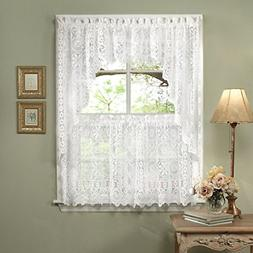 Sweet Home Collection 5 Pc Kitchen Curtain Set, Swag Pair, V
