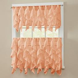 Sweet Home Collection 3 Pc Kitchen Curtain Valance and Choic