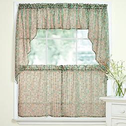 Sweet Home Collection 5 Pc Kitchen Curtain Valance Swag Choi