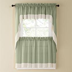 Sweet Home Collection 5 Pc Kitchen Curtain Set - Valance Swa