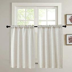 Kitchen Curtains for Dining Room Burlap Linen Tier Curtain W