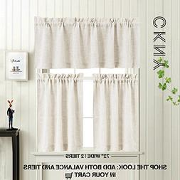 3 Pieces Kitchen Curtains and Valances Set Crude Tier Curtai