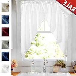Kitchen Curtains Valances and Swags for Windows 63 inches Lo