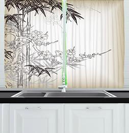 Ambesonne Kitchen Decor Collection, Japanese Art Traditional