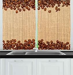 Ambesonne Kitchen Decor Collection, Coffee Beans Backround H