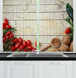 Ambesonne Kitchen Decor Collection, Cooking Vegetables Recip
