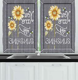 Ambesonne Kitchen Decor Collection, You Are My Sunshine Quot