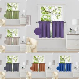 Kitchen Rod Pocket Tier Window Curtain Panels Insulated Foam