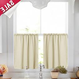 Kitchen Tier Curtains 36 inch Casual Weave Textured Cafe Cur