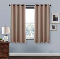 PONY DANCE Home Decor Curtains - Solid Thermal Insulated Bla