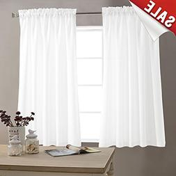 Kitchen Window Curtains Casual Weave Fabric Ready Drapes 45