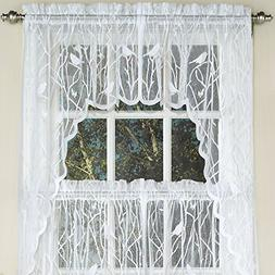 Sweet Home Collection Kitchen Window Tier, Swag, or Valance