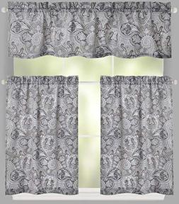 Traditions By Waverly 3-Pc. Kitchen Window Tier Curtain Pane