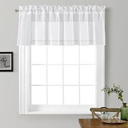 NICETOWN Kitchen Window Treatment Voile Valances - Small Win