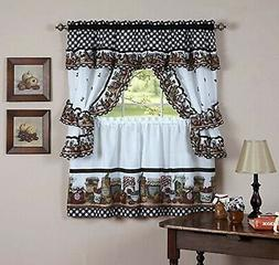Kitchen Window Valance And Swag Country Styles Curtain Set 3