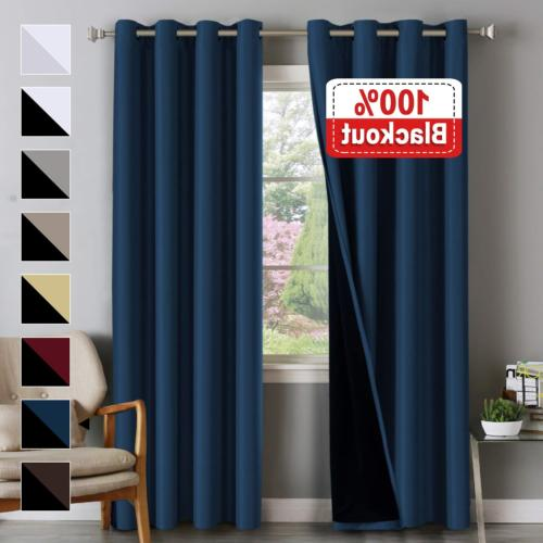 Flamingo P 100% Blackout Curtains for Bedroom Double Layer C
