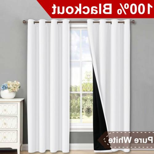 NICETOWN 100% Blackout Window Curtain Panels, Heat and Full