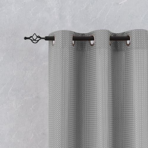 Lazzzy Bathroom for Bedroom Window Waffle-Weave Textured Drapes Kitchen Panels